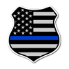 Thin Blue Line American Flag Shield Sticker