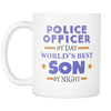 Police Officer By Day World's Best Son By Night-Mug
