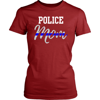 Thin Blue Line Police Mom Shirts and Hoodies