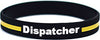 Thin Gold Line Dispatcher Silicone Bracelet