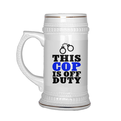 This Cop is Off Duty Beer Stein Mug