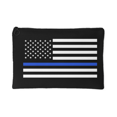 Thin Blue Line American Flag Accessory Pouch