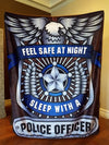 New Year's Special - Feel Safe At Night Sleep With A Police Officer Throw Blanket