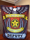 Feel Safe At Night Sleep With A Deputy Throw Blanket