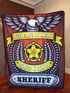 Feel Safe At Night Sleep With A Sheriff Throw Blanket