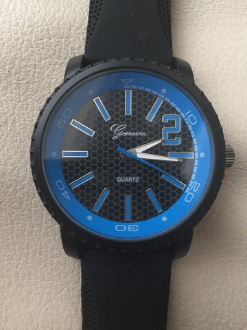 Geneva Blue Quartz Law Enforcement Watch