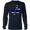 Shamrock Thin Blue Line Flag Shirt