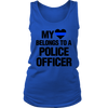 Women's My Heart Belongs To A Police Officer Tank Tops