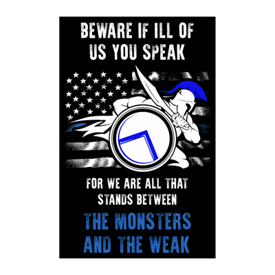Beware If ill Of Us You Speak Poster