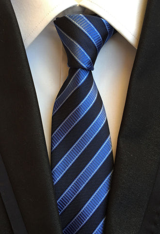 Formal Thin Blue Line Striped Tie