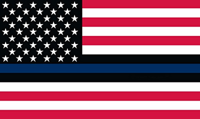 Thin Blue Line Inspired American Flag - American Flag with Blue Line