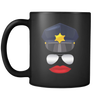 Female Cop Face Mug