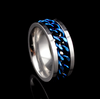 Thin Blue Line Chain Ring