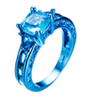 """As Blue As It Gets"" Ring"