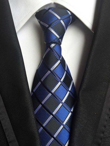 Classy Thin Blue Line Checkered Tie