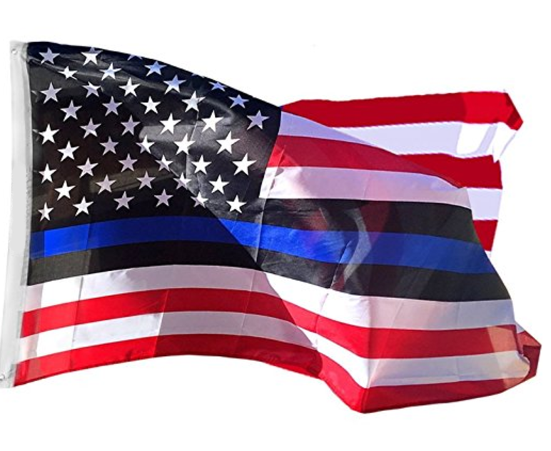 thin blue line inspired american flag 3 by 5 foot flag with