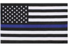 American Flag Thin Blue Line Car & Laptop Decal