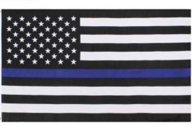 Thin Blue Line American Flag Car And Laptop Decal Thin