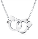 Classy Silver Plated Handcuff Necklace
