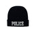 Low Profile Embroidered POLICE Beanie