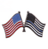 American Flag and Thin Blue Line American Flag Pin