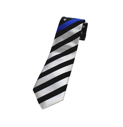 Thin Blue Line American Flag Tie