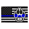 K9 Paw Thin Blue Line Flag