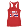 Women's Thin Blue Line Police True Love Tank Tops