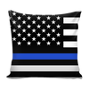 Thin Blue Line American Flag Pillow Cover