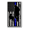 K-9 and Officer Trust - Thin Blue Line Flag Sticker