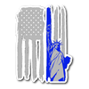 Thin Blue Line Liberty Sticker