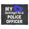 My Heart Belongs to a Police Officer Fleece Blanket