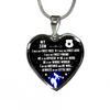 Police Mom - I Am His Mother - Heart Necklace or Bangle