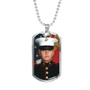 Personalized Stainless Steel Dog Tag Necklace