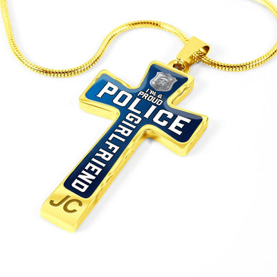 Proud Police Girlfriend Cross Necklace