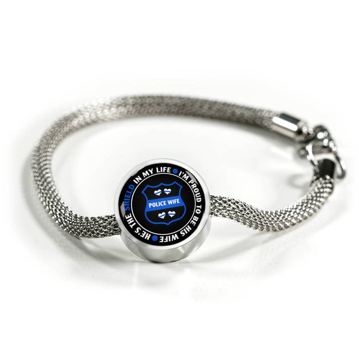 He's the Shield in my Life Charm Bracelet