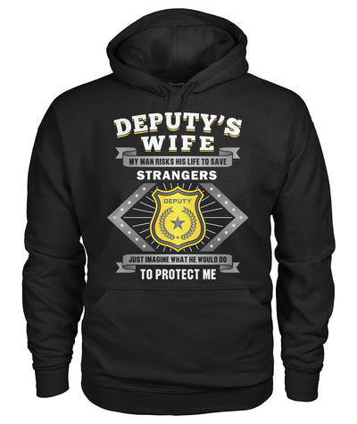 Deputy's Wife My Man Risk His Life to Save Stranger Shirts and Hoodies