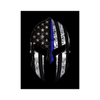 Spartan - Thin Blue Line Flag Poster