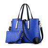 Luxury Composite Large Blue Women's Handbag and Wallet