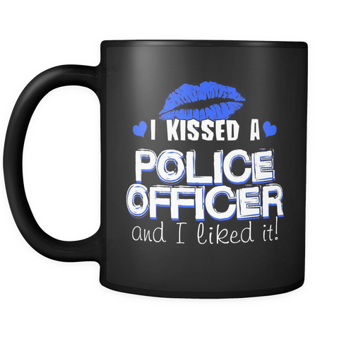 I Kissed A Police Officer - Blue Kisses - Mug