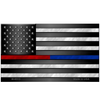 Thin Blue Line & Thin Red Line American Flag Novelty License Plate