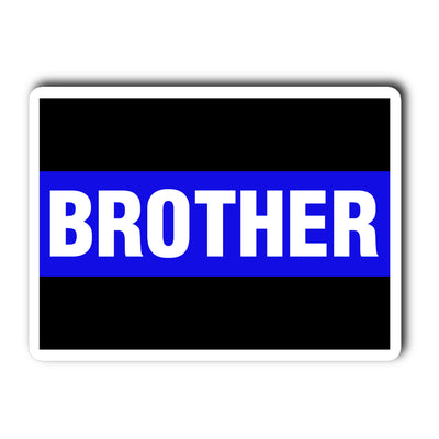 Thin Blue Line Brother Decal Sticker