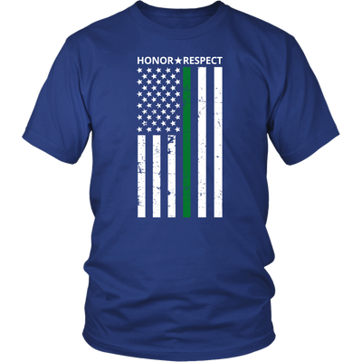 THIN GREEN LINE FLAG HONOR RESPECT SHIRTS AND HOODIES