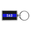 Thin Blue Line Dad Keychain
