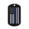 Thin Blue Line American Flag Dog Tag