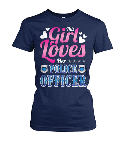This Girl Loves Her Police Officer Shirts and Hoodies