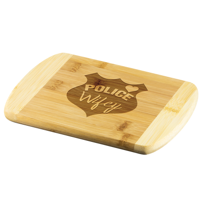 Police Wifey Round Edge Chopping Board
