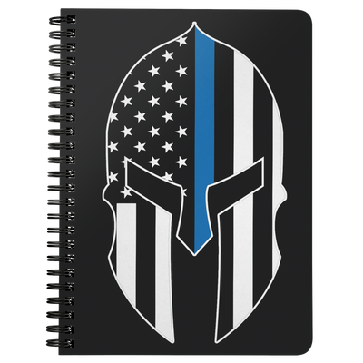 Thin Blue Line Spartan Spiralbound Notebook Journal
