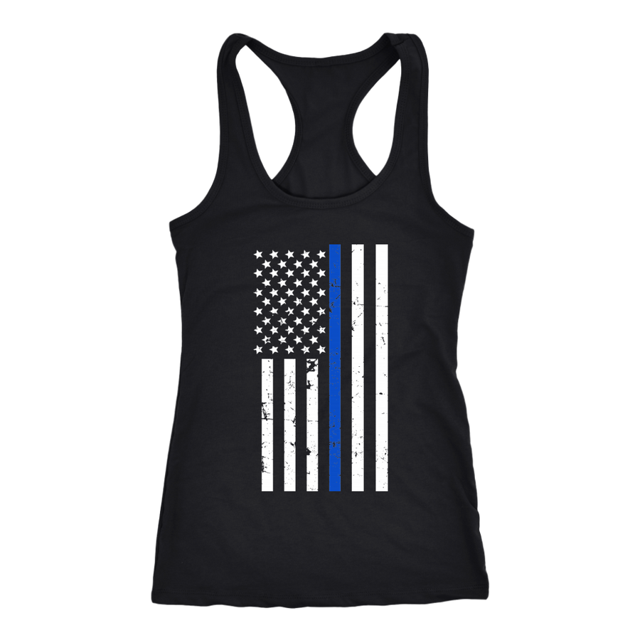 0582a2d26cda0d Thin Blue Line Men s and Women s Tank Tops for Law Enforcement and ...