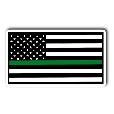 Thin Green Line American Sticker